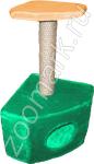 Домик-когтеточка угловой с полкой; мех; 35-35-55см Zoo Mark