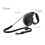 Flexi Classic-1 - рулетка для собак до 12кг-5м; трос; черная