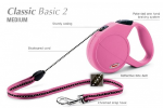 Flexi Classic-2 - рулетка для собак до 20кг-5м; трос; розовая