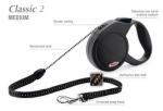 Flexi Classic-2 - рулетка для собак до 20кг5м; трос; черная
