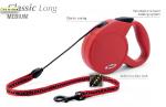 Flexi Classic Long-2 - рулетка для собак до 20кг-7м красная; трос