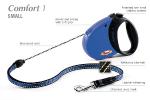 Flexi Comfort-1 - рулетка для собак до 12кг5м; трос; мягкая ручка; синяя