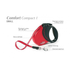 Flexi Comfort Compact-1 - рулетка для собак до 15кг5м; ремень; красная