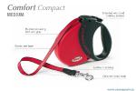 Flexi Comfort Compact-2 - рулетка для собак до 25кг5м; ремень; красная