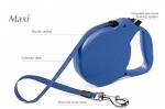 Flexi Maxi - рулетка для собак до 50кг8м ; цветной ремень; синяя
